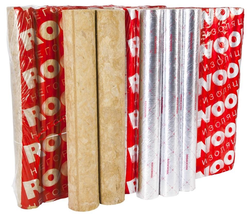 Цилиндры навивные Rockwool 35x40 с фольгой